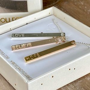 Eye Candy Engraved Triple Bar Necklace!